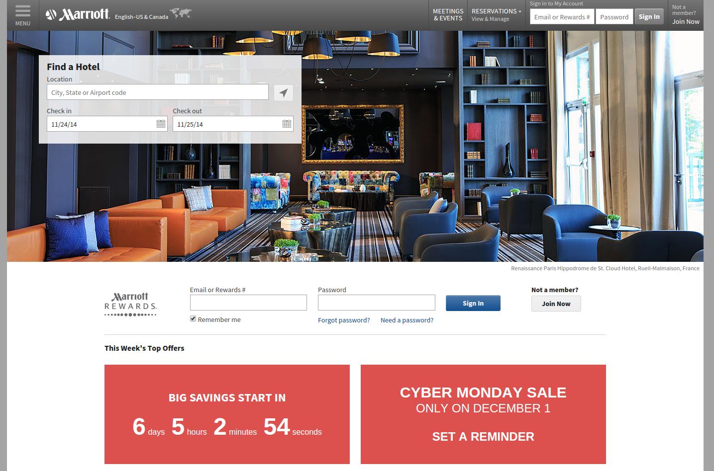 Marriott International - Us screenshot