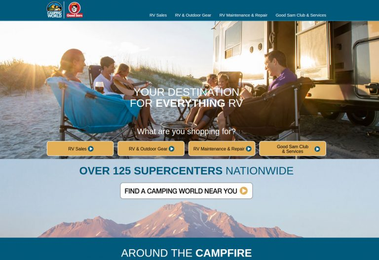 Camping World screenshot