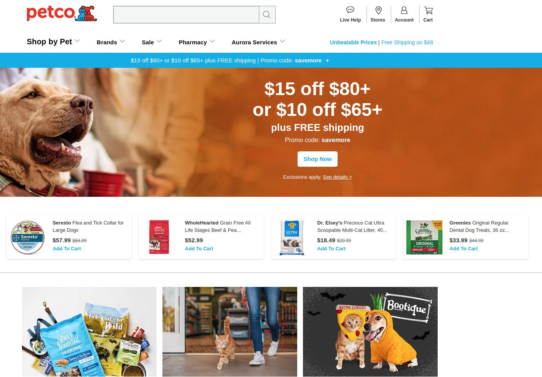 Petco Animal Supplies screenshot