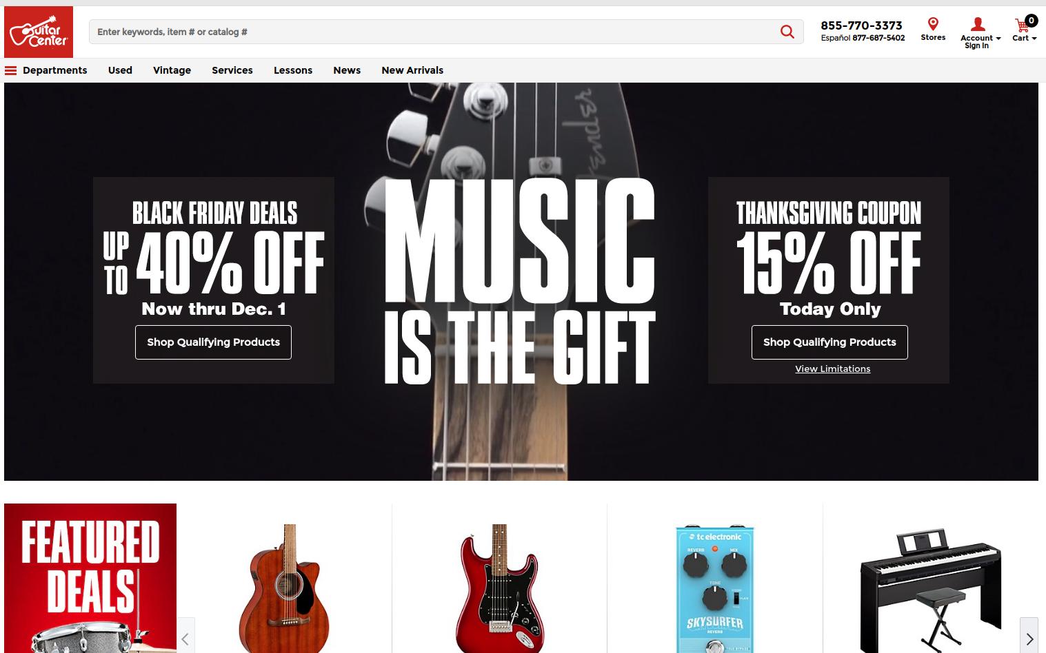 Guitar Center screenshot