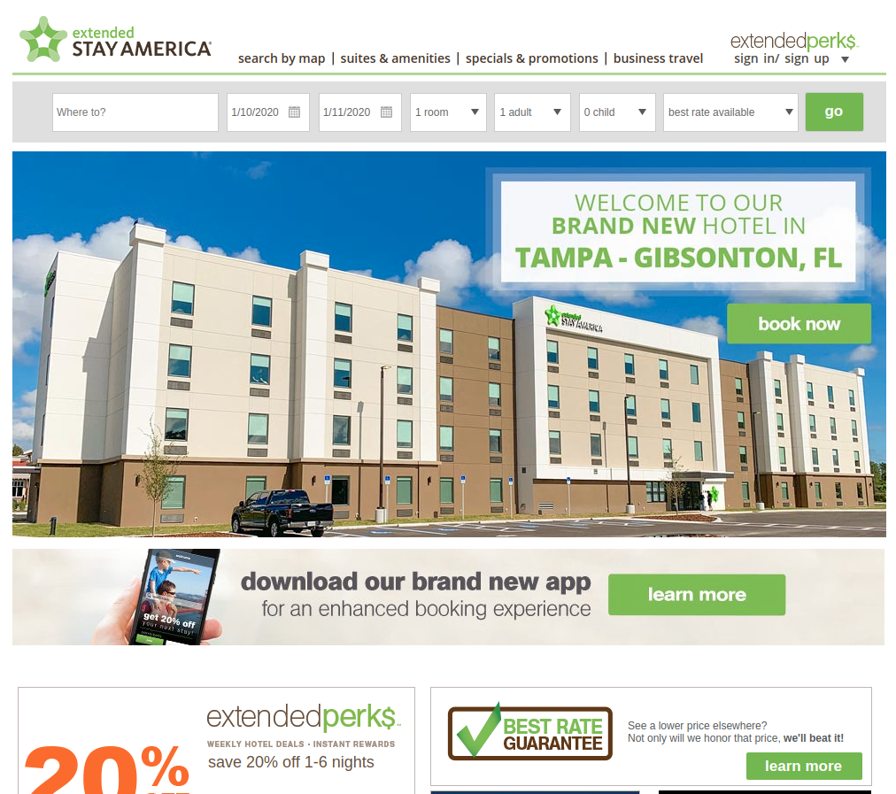 Extended Stay America screenshot