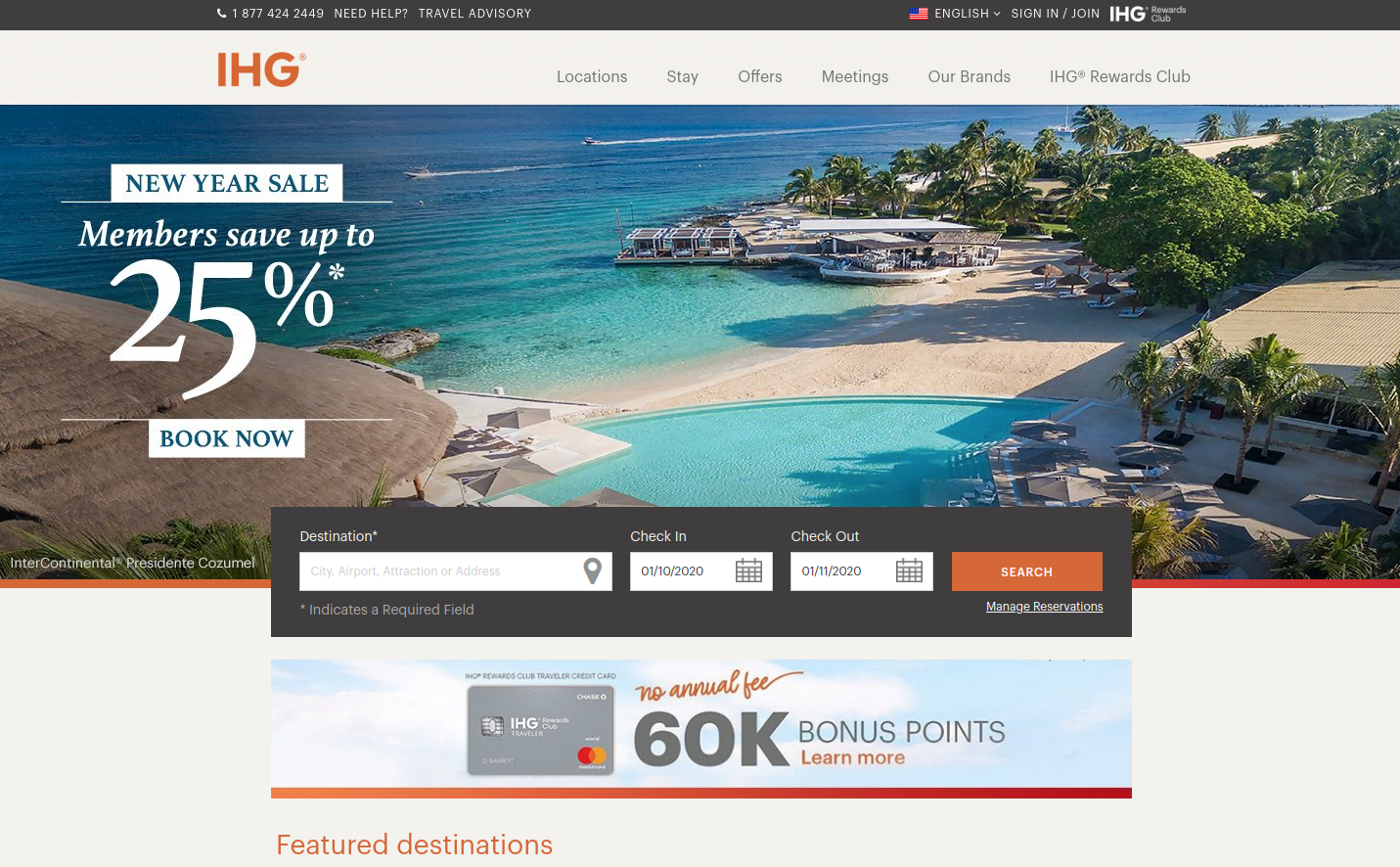 Intercontinental Hotels Group screenshot