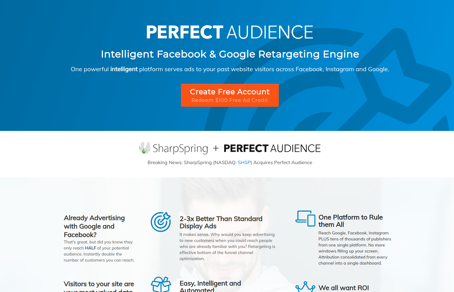 Perfect Audience Easiest Retargeting Solution screenshot